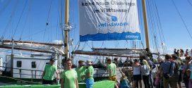 Greenpeace-Schiff 'Beluga II' auf umweltpolitischer Mission