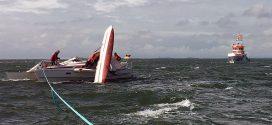 Havarie durch Mastbruch – Seenotretter laufen aus…