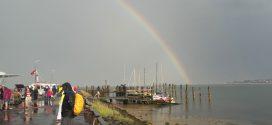 Viele Besucher beim Steenodder Molenfest, dann kam der große Regen…