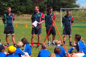 Das Trainerteam Thorsten Judt, Thomas Seeliger, Finn Spitzer und Niko Schemmerling hatten Spass