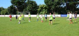 Erstmals Fußballtraining für junge Gäste…