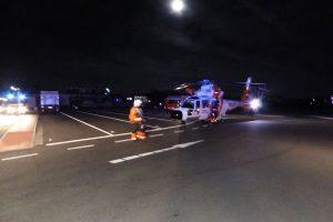 Unterstützung durch den Hubschrauber