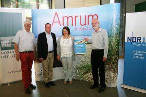 Werner Junge, NDR-Redaktionsleiter, Frank Timpe, Amrum Touristik, Antje Arfsten, Nordfriiskinstituut, Peter Nissen, Nordfriiskinstituut