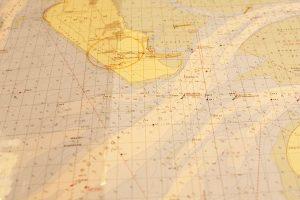 Die Seekarte... Hier muss man sich zurecht finden können.