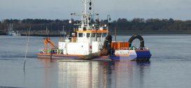 Speziell bei Niedrigwasser wurde es am Fähranleger Wittdün eng für die Berufsschifffahrt …