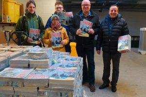 v.l. die Redakteure Christian Vogel, Susanne Jensen, Thomas Oelers, Chefredakteur Peter Lückel, Herausgeber Frank Timpe
