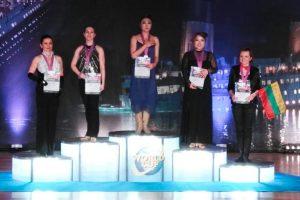 Vizeweltmeisterin Britta Lindner links neben der Weltmeisterin