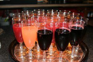Sekt und andere Getränke standen bereit...