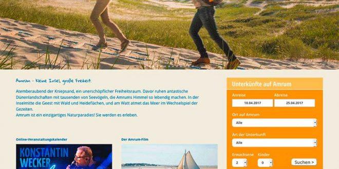 Neue Internetseiten für Amrum…
