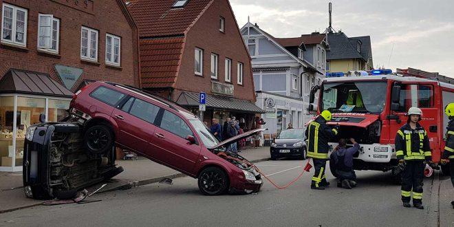 Spektakulärer Unfall in Wittdün…