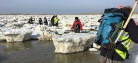 Eiswandern vor Amrum …