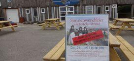 Traditionelle Sonnenwendfeier am 21.Juni wird wetterbedingt in die Halle verlegt…