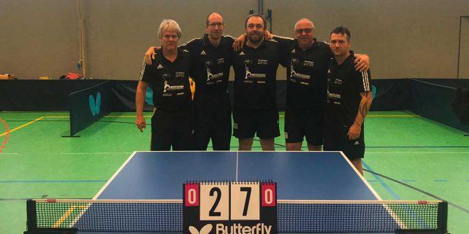 Tischtennis-Herren überwintern auf Platz 2