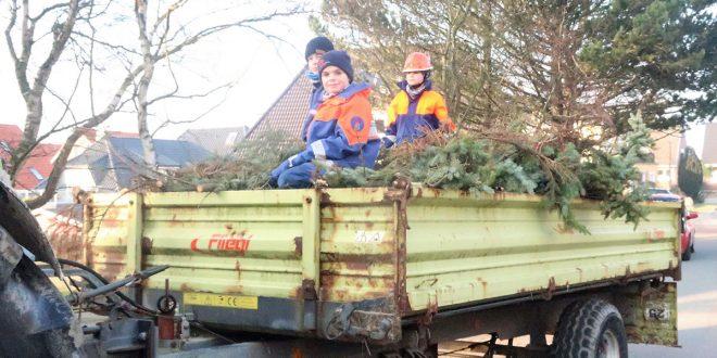 Die Hilfe für die Leute die ihren Baumschnitt nicht selber fahren können, ist erneut gut angekommen…